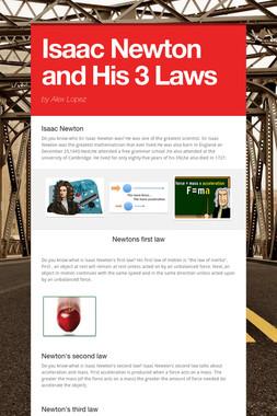 Isaac Newton and His 3 Laws