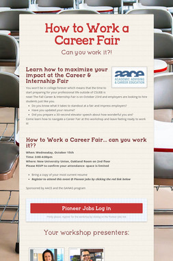 How to Work a Career Fair