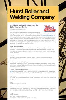Hurst Boiler and Welding Company