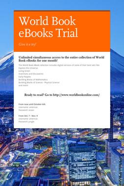 World Book eBooks Trial