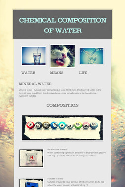 Chemical composition of water