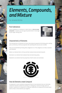 Elements, Compounds, and Mixture