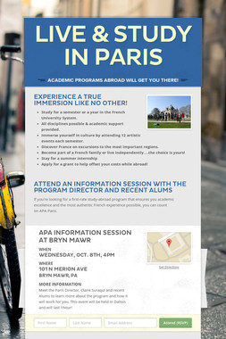 LIVE & STUDY IN PARIS