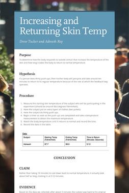 Increasing and Returning Skin Temp
