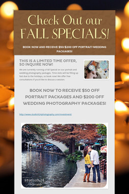 Check Out our FALL SPECIALS!