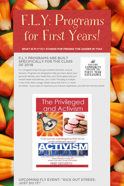 F.L.Y: Programs for First Years!