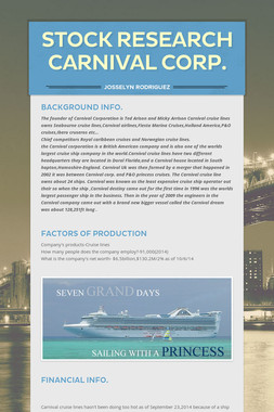 stock research  Carnival Corp.