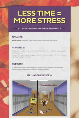 Less Time = More Stress