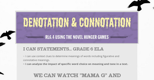 Denotation Connotation Smore Newsletters