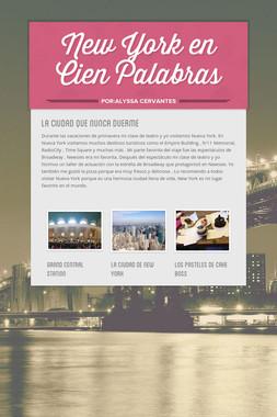 New York en Cien Palabras