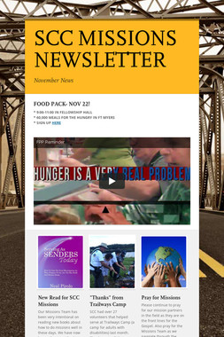 SCC MISSIONS NEWSLETTER