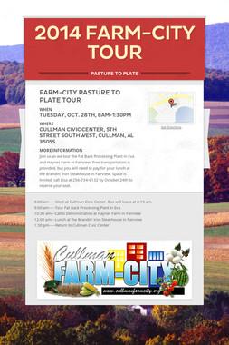 2014 FARM-CITY TOUR