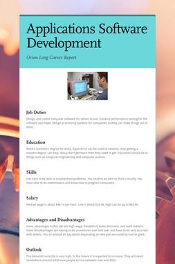 Applications Software Development