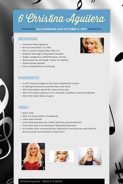 6 Christina Aguilera