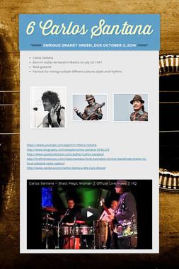 6 Carlos Santana