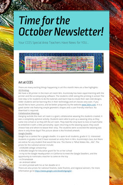 Time for the October Newsletter!