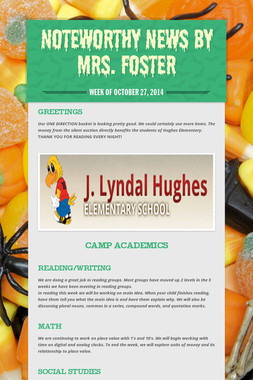 Noteworthy News by Mrs. Foster