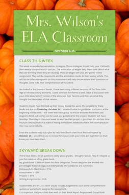 Mrs. Wilson's ELA Classroom