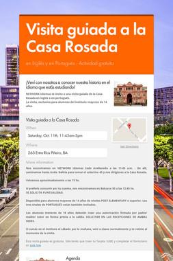 Visita guiada a la Casa Rosada