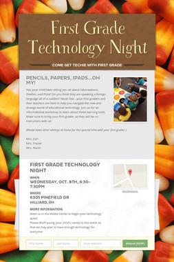 First Grade Technology Night