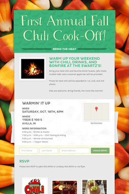 First Annual Fall Chili Cook-Off!