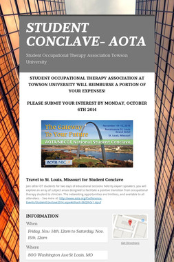 STUDENT CONCLAVE- AOTA