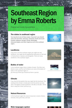 Southeast Region by Emma Roberts