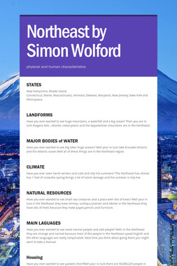 Northeast by Simon Wolford