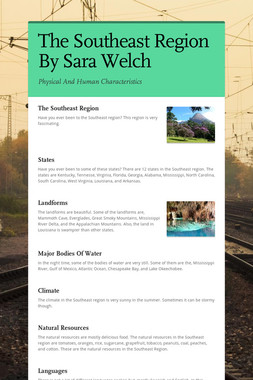 The Southeast Region By Sara Welch