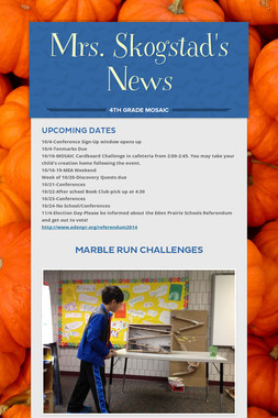 Mrs. Skogstad's News