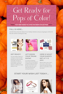 Get Ready for Pops of Color!
