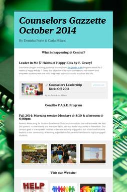 Counselors Gazzette October 2014