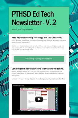 PTHSD Ed Tech Newsletter - V. 2