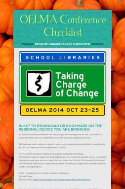 OELMA Conference Checklist