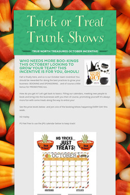 Trick or Treat Trunk Shows