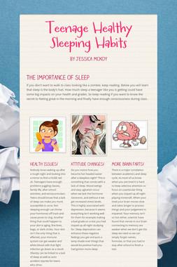 Teenage Healthy Sleeping Habits