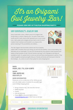 It's an Origami Owl Jewelry Bar!