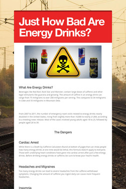Just How Bad Are Energy Drinks?