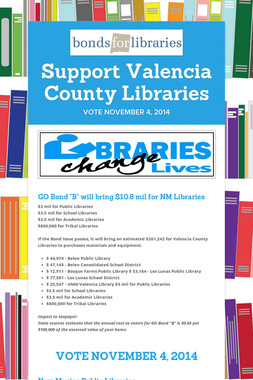 Support Valencia County Libraries