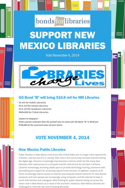 Support New Mexico Libraries