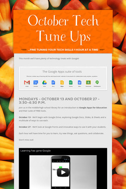 October Tech Tune Ups