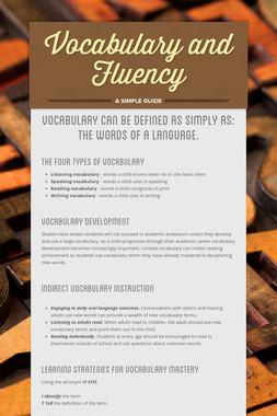 Vocabulary and Fluency