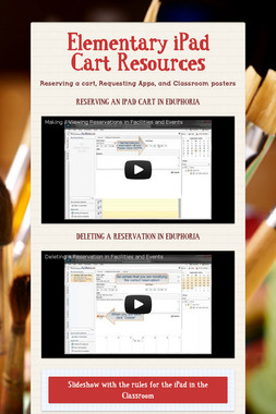 Elementary iPad Cart Resources