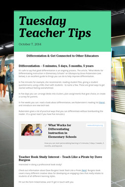 Tuesday Teacher Tips