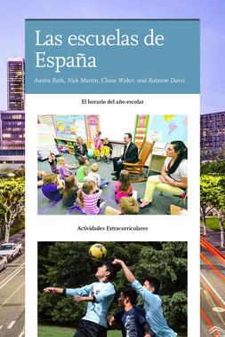 Las escuelas de España