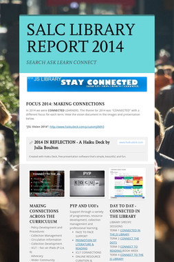 SALC LIBRARY REPORT 2014