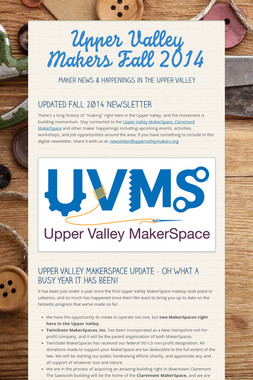 Upper Valley Makers Fall 2014