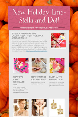 New Holiday Line- Stella and Dot!