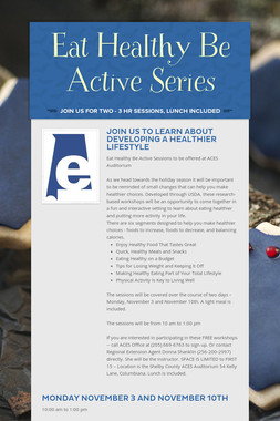 Eat Healthy Be Active Series