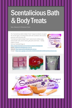 Scentalicious Bath & Body Treats